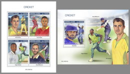 SIERRA LEONE 2019 MNH Cricket Sport M/S+S/S - OFFICIAL ISSUE - DH1941 - Cricket