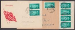 Mi- Nr. 472, EF Auf Drucksache Und MeF Mit 2 Bzw 4 Werten Auf Brief, Portogerecht - [6] República Democrática