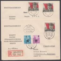 Mi- Nr. 520A, MeF Mit 2 Werten Bzw. MiF Auf R- Brief, Je Portogerecht, Ersttag, FDC - [6] República Democrática