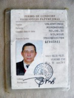 2 Scans. Permis De Conduire , Drivers Licence From USSR Lithuania 1999 - Historical Documents