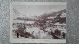 PHOTO COLLEE SUR CARTON - BRIANCON 05 HAUTES ALPES - SAINT CATHERINE - Plaatsen