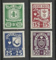 Estland Estonia 1937 Caritas Michel 127 - 130 * - Estonie