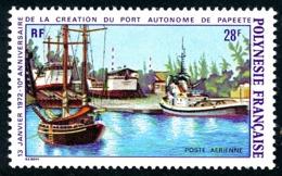 POLYNESIE 1972 - Yv. PA 60 * TB  Cote= 16,00 EUR - Port Autonome De Papeete  ..Réf.POL24381 - Poste Aérienne