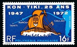 POLYNESIE 1972 - Yv. PA 64 * SUP  Cote= 16,00 EUR - Arrivée Du Kon-Tiki à Tahiti  ..Réf.POL24385 - Poste Aérienne