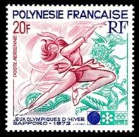 POLYNESIE 1972 - Yv. PA 61 ** SUP  Cote= 13,50 EUR - JO D'hiver à Sapporo  ..Réf.POL24382 - Poste Aérienne