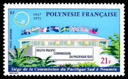 POLYNESIE 1972 - Yv. PA 62 **   Cote= 17,00 EUR - Commission Du Pacifique-Sud, Nouméa  ..Réf.POL24383 - Poste Aérienne