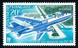 POLYNESIE 1973 - Yv. PA 74 *   Cote= 23,00 EUR - Mise En Service De L'avion DC10  ..Réf.POL24391 - Poste Aérienne