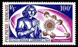 POLYNESIE 1973 - Yv. PA 72 ** TB  Cote= 38,50 EUR - Nicolas Copernic  ..Réf.POL24389 - Poste Aérienne