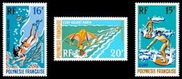 POLYNESIE 1971 - Yv. PA 48 49 Et 50 NEUF TB  Cote= 33,00 EUR - Sports Nautiques (3 Val.)  ..Réf.POL24378 - Poste Aérienne