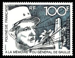 POLYNESIE 1972 - Yv. PA 70 ** TB  Cote= 78,00 EUR - Général De Gaulle  ..Réf.POL24387 - Poste Aérienne
