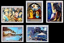 POLYNESIE 1971 - Yv. PA 55 56 57 58 Et 59 ** SUP  Cote= 105,00 EUR - Tableaux D'Artistes Polyn. (5 Val.)  ..Réf.POL24380 - Poste Aérienne