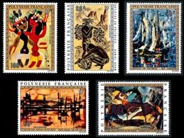 POLYNESIE 1972 - Yv. PA 65 66 67 68 Et 69 ** SUP  Cote= 127,00 EUR - Tableaux D'Artistes Polyn. (5 Val.)  ..Réf.POL24386 - Poste Aérienne