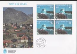 Greenland FDC 1991 NORDEN Block Of Four  (LAR8-48) - FDC