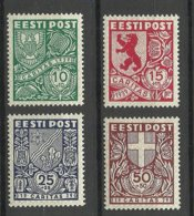 Estonia 1939 CARITAS Michel 142 - 145 * - Estonie