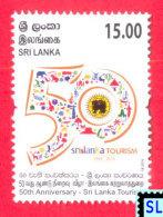 Sri Lanka Stamps 2016, Tourism 50th Anniversary, Cricket, Bike, Elephant, Boat, Lighthouse, MNH - Sri Lanka (Ceylon) (1948-...)