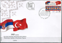Serbia 2019. Diplomatic Relations With Turkey (Mint) First Day Cover - Serbia
