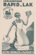 Buvard Ancien : L'Encaustique Rapid-Lak Produit Du Cygne Noir (13,5 X 21 ) - Pulizia