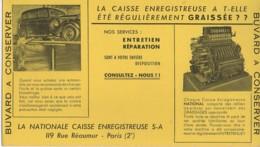 Buvard Très Ancien : La Nationale CAISSE ENREGISREUSE - Carte Assorbenti