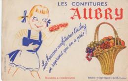Buvard  Les Confitures Aubry - Sucreries & Gâteaux