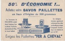 """Buvard Très Ancien : Savon Paillettes """"Fer à Cheval"""" - Pulizia"""