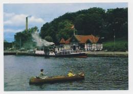 AJ32 Silkeborg, Havn Med Hjejlen - Steam Ferry, Children In Rowing Boat - Denmark