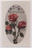 AJ32 Birthday Greeting - Flowers, Red Roses - Birthday