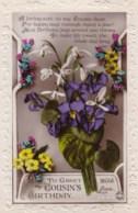 AL78 Greetings - Family Birthday, Cousin, Flowers - Birthday