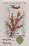 AL78 Greetings - Happy May Your Birthday Be, Flowers, Ribbon - Birthday