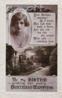 AL78 Greetings - Family Birthday, Sister, Garden, Gladys Cooper?? - Birthday