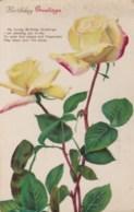 AL78 Greetings - Birthday Greetings - Yellow Roses - Birthday