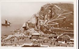 AP78 Capstone Hill And Parade, Ilfracombe - RPPC, Sailing Ship - Ilfracombe