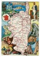 N° 20 - Corse - Contour Géographique Illustré J P Pinchon - Blondel La Rougery - Pas Circulé, Traces Encre D'impression - Landkaarten