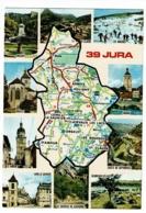 Jura - Contour Département (Carte Michelin N° 989) Multivues, 10 Vues - Pas Circulé - Landkaarten