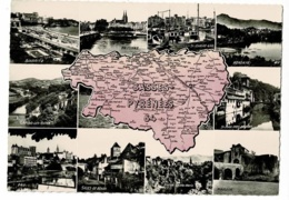 1585 - Basses Pyrénées - Carte Département Dessinée - Multivues, 11 Vues - Pas Circulé - Landkaarten