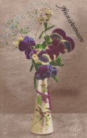 AR72 Greetings - Anniversaire - Vase With Flowers - Birthday