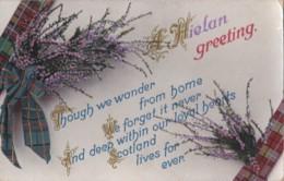 AR72 Greetings - A Hielan Greeting - Heather, Tartan - Holidays & Celebrations
