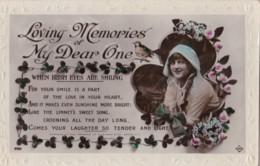 AR72 Greetings - Loving Memories Of My Dear One - Girl, Flowers, Bird - Holidays & Celebrations