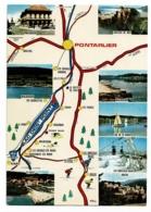 Doubs Pittoresque - Route Pontarlier à Jougne Dessinée, Multivues, 8 Vues - Pas Circulé - Landkaarten