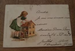 Illustrateur - Raphael Tuck - Un Mot à La Poste, Série 8. 11. - Dolls House, Maison De Poupées - Petite Fente Vers 12h - Tuck, Raphael