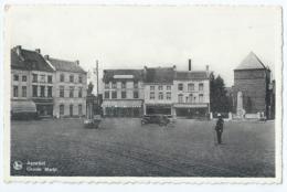 """Aarschot - Groote Markt - Café """"De Zwaan"""" - Drukkerij """"De Klok"""" - Uitgever Ingelberts, Aarschot - 1943 - Aarschot"""
