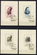 CHINE CHINA CINE 1955, Yvert BF 4/7, Savants De L'ancienne Chine, 4 Blocs, Non Dentelés / Imperforated, Oblitérés / Used - Oblitérés