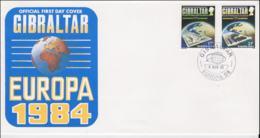 Gibraltar 1984  FDC Europa CEPT (NB**LAR8-46) - Europa-CEPT