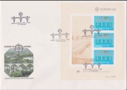 Acores 1984   FDC Europa CEPT Souvenir Sheet (LAR8-46) - Europa-CEPT