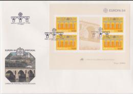 Portugal 1984   FDC Europa CEPT Souvenir Sheet (LAR8-46) - Europa-CEPT