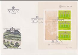 Madeira 1984   FDC Europa CEPT Souvenir Sheet (LAR8-46) - Europa-CEPT