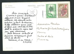 Ghana - Gold Coast - Carte Postale Affranchie Au Dos En Mars 1959  - Raa 3601 - Ghana - Gold Coast