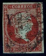 CORREO INTERIOR DE LA HABANA. HABILITADOS Y 1/4. 1855. CATÁLOGO EDIFIL CUBA 4A - Cuba (1874-1898)