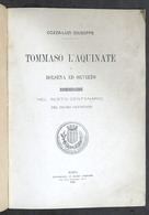 Cozza-Luzi - Tommaso L'Aquinate A Bolsena E Orvieto - Commemorazione 1^ Ed. 1891 - Libri, Riviste, Fumetti