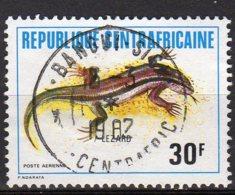 Républiques Centrafricaines Yvert N° 240 Aérien Oblitéré Reptiles Lot 14-14 - Centrafricaine (République)