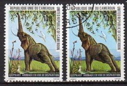 Cameroun  Yvert N° 637 Neuf Avec Charnière /oblitéré éléphants 2 Timbres Lot 15-83 - Camerun (1960-...)